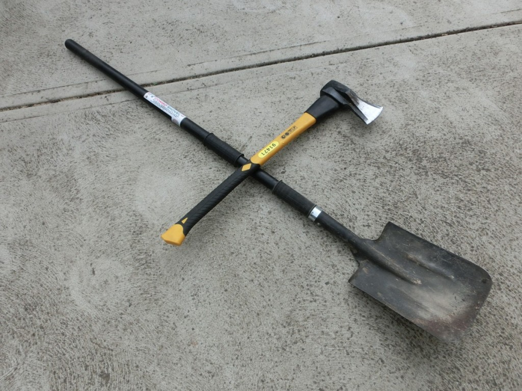 Axes & shovels are very useful and multi-purposes.