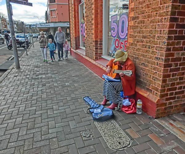 Guitarist on the street – Bowral